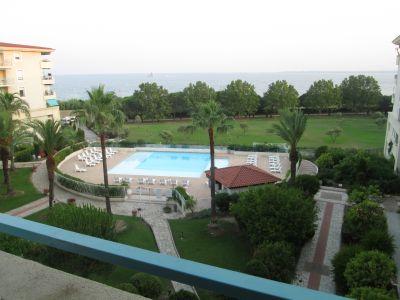 Vue de la terrasse Location Appartement 104068 Juan les Pins