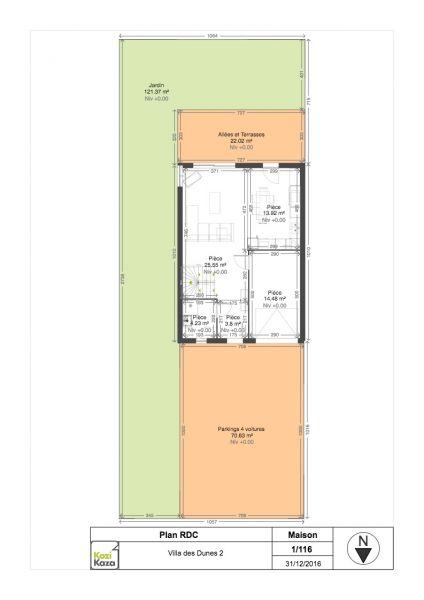 Plan de la location Location Maison 105489 Le Touquet