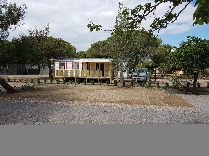 Vue extérieure de la location Location Mobil-home 115155 Canet-en-Roussillon