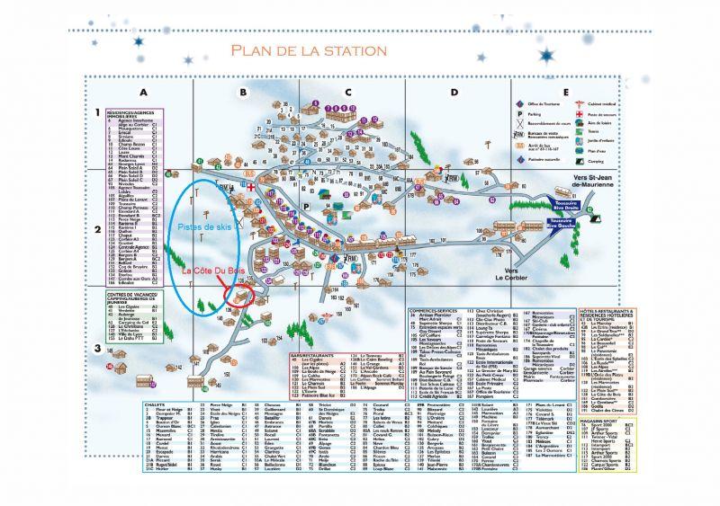 Plan de la location Location Appartement 116507 La Toussuire