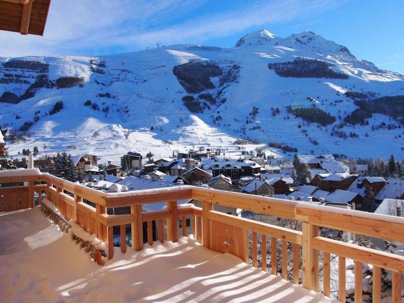 Vue de la terrasse Location Chalet 116881 Les 2 Alpes