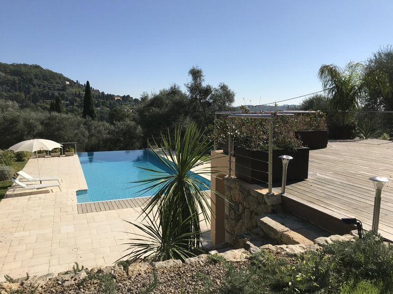 Vue de la terrasse Location Maison 118651 Grasse
