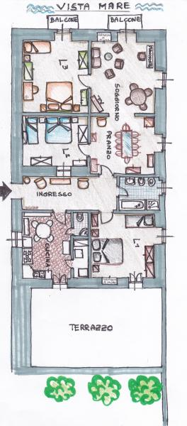 Plan de la location Location Appartement 69201 Santa Maria al Bagno