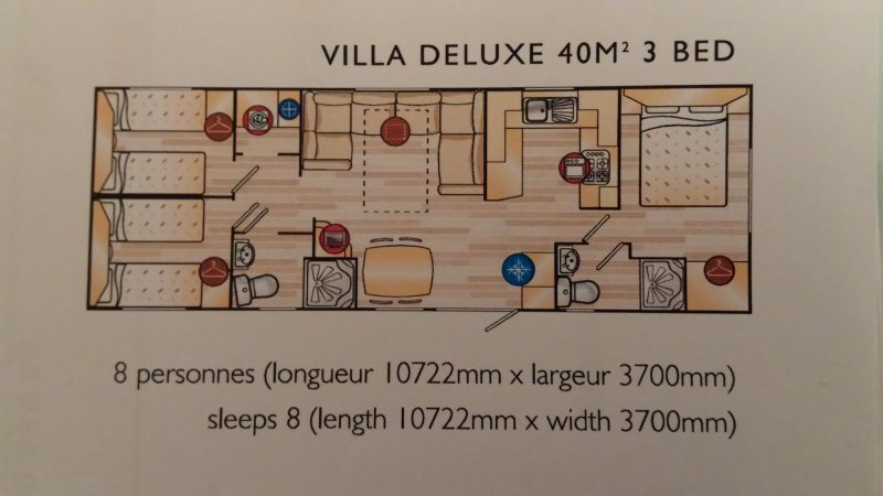 Plan de la location Location Mobil-home 95245 Vias Plage