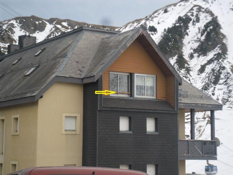 Vue extérieure de la location Location Studio 102286 La Mongie