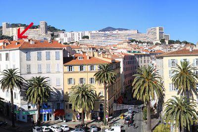Vue ext�rieure de la location Location Appartement 102372 Ajaccio