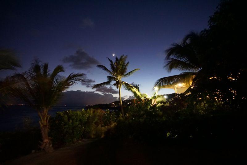Vue de la terrasse Location Villa 102539 Saint Francois