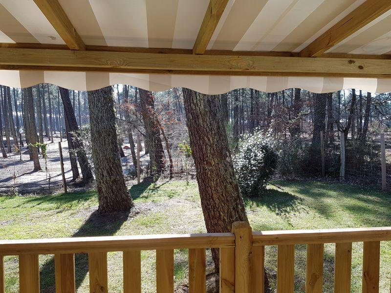Vue de la terrasse Location Mobil-home 114302 Lit-et-Mixe