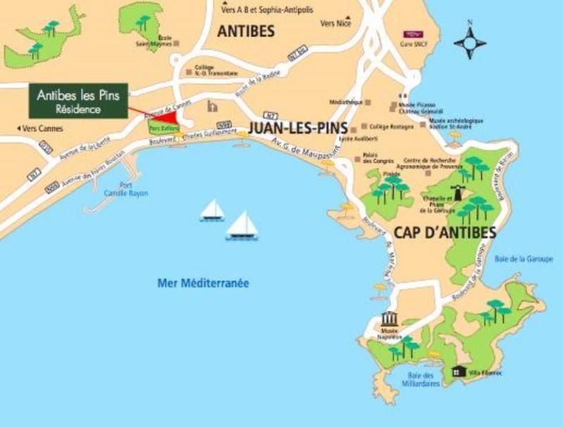 Carte Location Appartement 115401 Juan les Pins