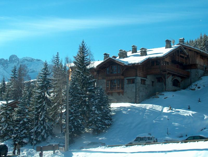 Vue du balcon Location Appartement 68771 Courchevel