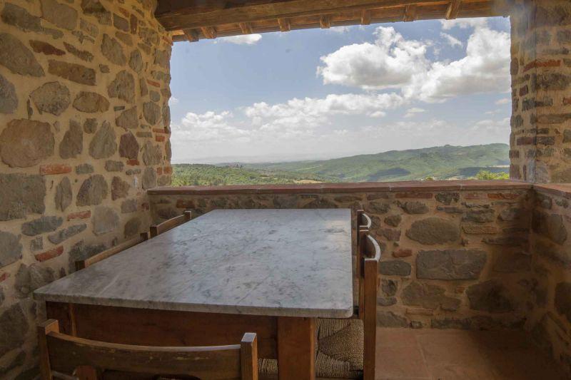 Vue de la terrasse Location Gite 84892 Sienne