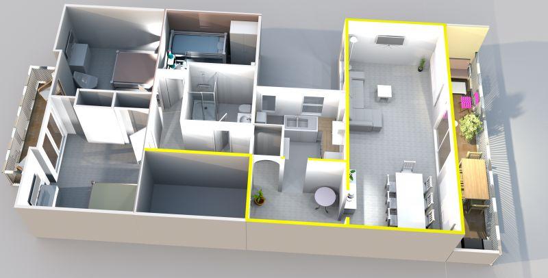 Plan de la location Location Appartement 86249 Rosas