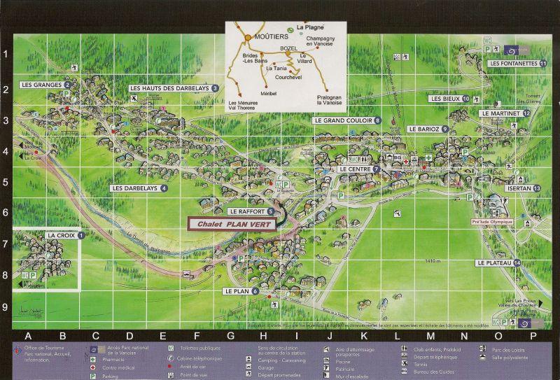 Carte Location Chalet 106385 Pralognan la Vanoise