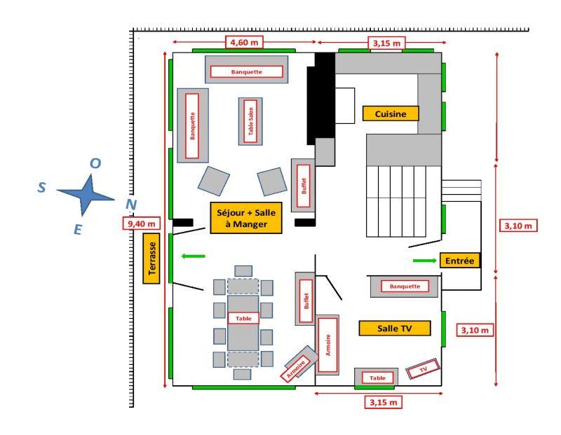 Plan de la location Location Chalet 107147 Les Contamines Montjoie