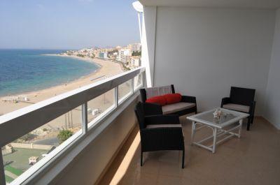 Vue de la terrasse Location Appartement 107967 Benidorm