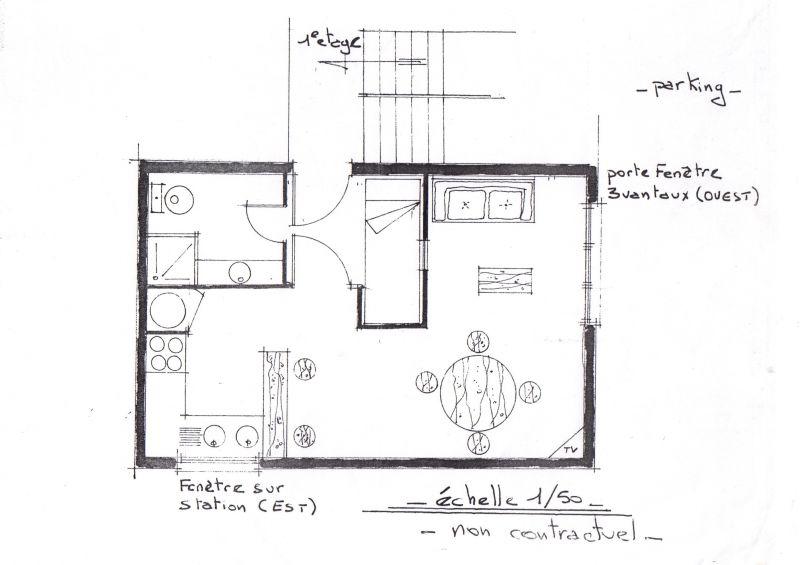 Plan de la location Location Studio 112519 Peyragudes