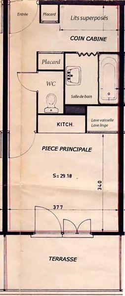 Plan de la location Location Studio 112686 Auron - Saint Etienne de Tinée