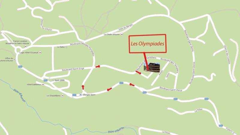 Carte Location Studio 112686 Auron - Saint Etienne de Tinée