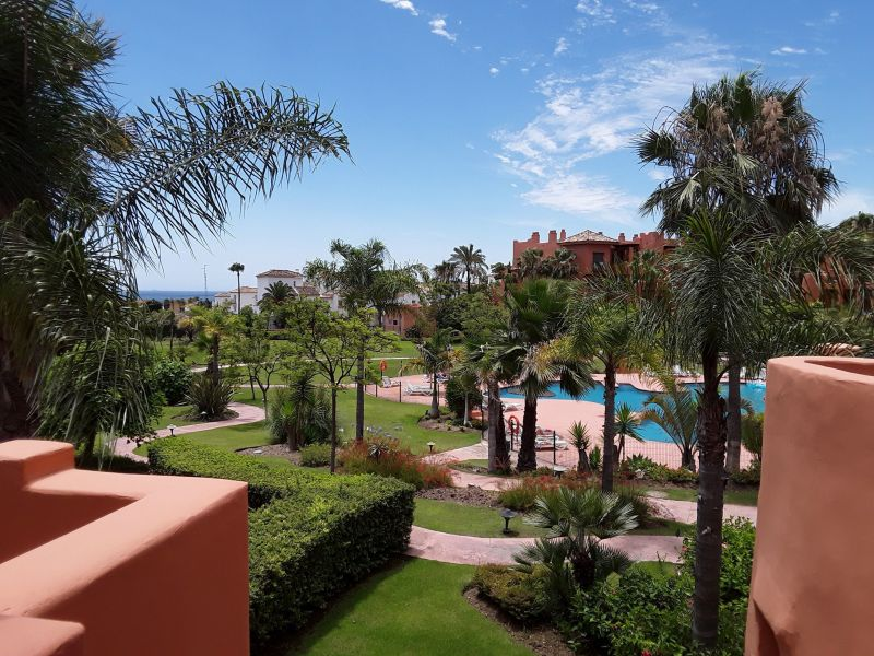 Vue de la terrasse Location Appartement 114649 Estepona