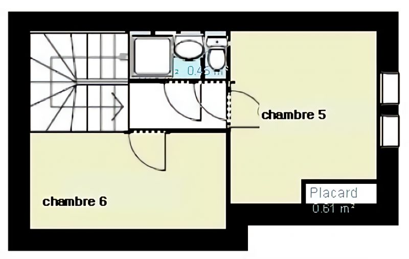 Plan de la location Location Maison 115697 Méribel