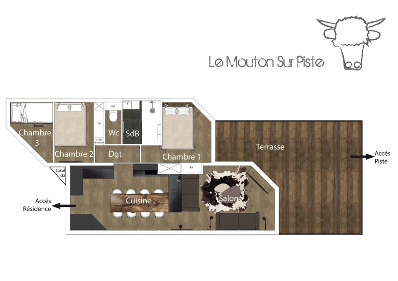Plan de la location Location Appartement 116916 Val Thorens
