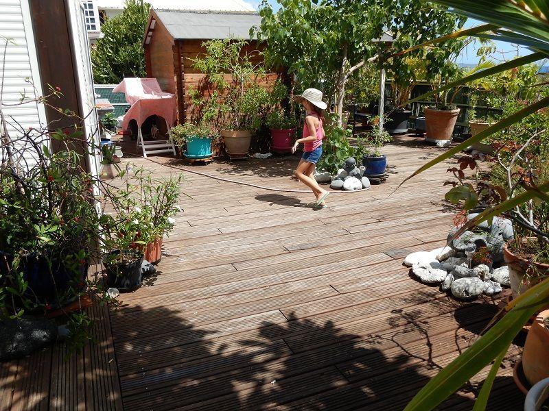 Vue de la terrasse Location Appartement 119424 La Saline les Bains