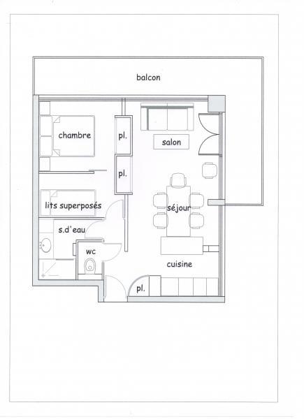 Plan de la location Location Appartement 65052 La Plagne