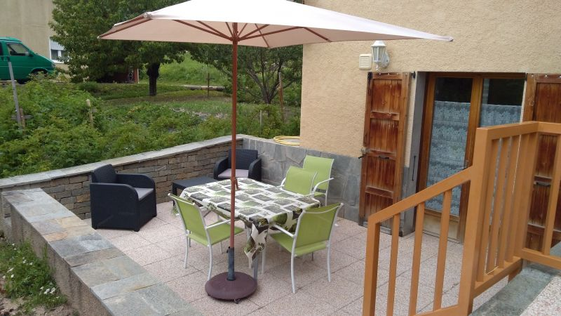 Vue de la terrasse Location Appartement 68568 Puy Saint Vincent