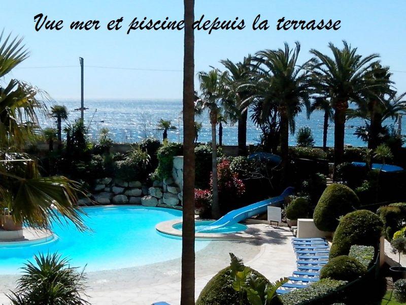 Vue de la terrasse Location Appartement 82546 Cannes
