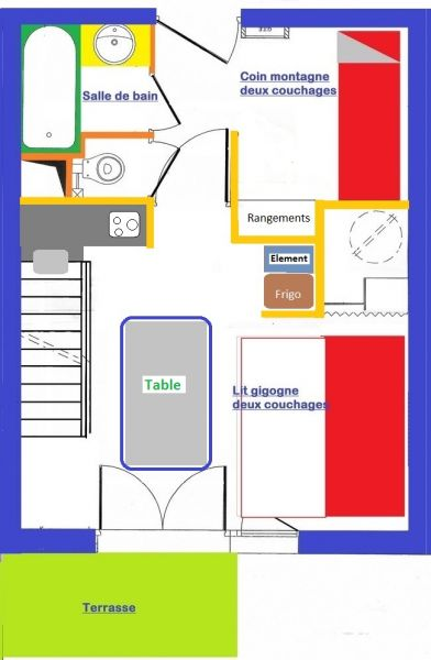 Plan de la location Location Appartement 82549 Risoul 1850