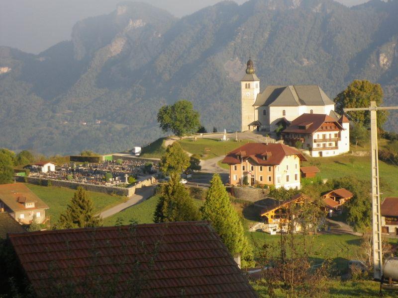 Vue du balcon Location Chalet 92047 Mont Saxonnex