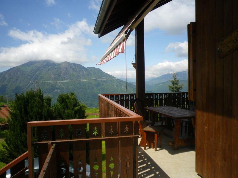 Vue de la terrasse Location Chalet 92047 Mont Saxonnex