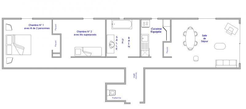Plan de la location Location Appartement 64 Alpe d'Huez