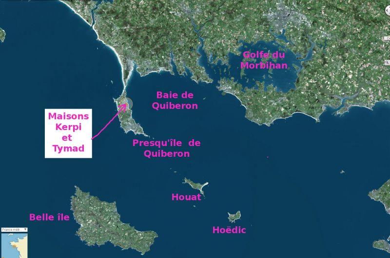 Carte Location Maison 106018 Saint Pierre Quiberon