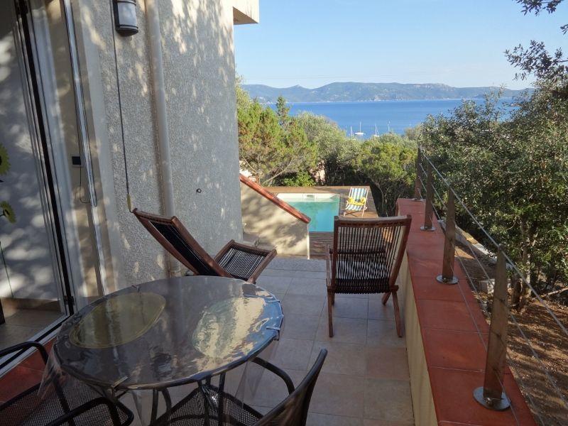 Vue de la terrasse Location Appartement 114070 Porto Pollo