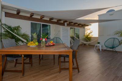 Vue de la terrasse Location Studio 116454 Playa del Carmen