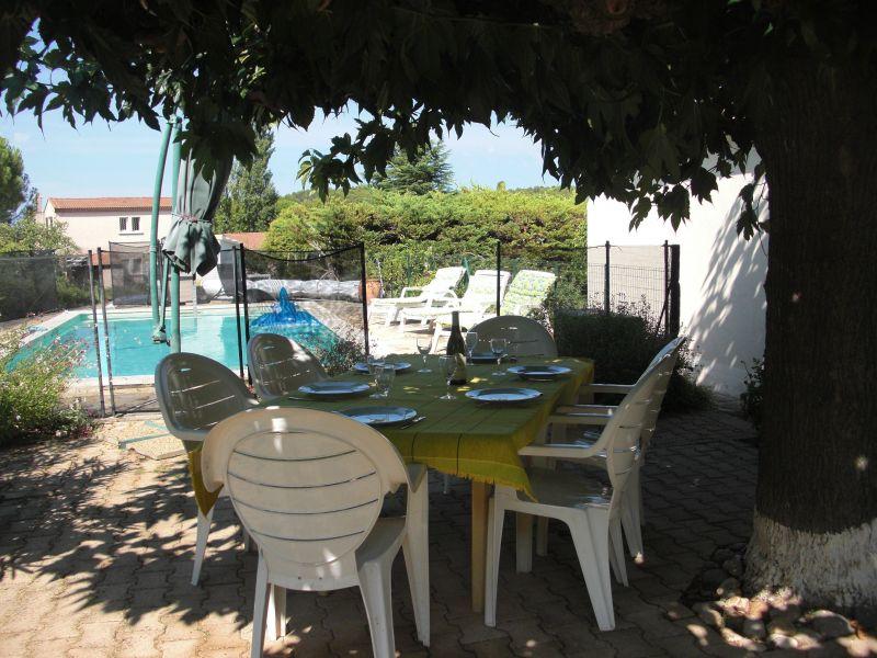Vue de la terrasse Location Villa 118110 Nîmes