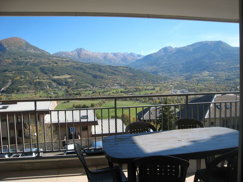 Vue de la terrasse Location Appartement 118158 Embrun