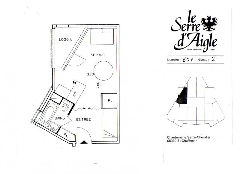 Plan de la location Location Studio 67518 Serre Chevalier