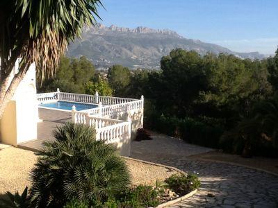 Vue extérieure de la location Location Villa 87551 Altea