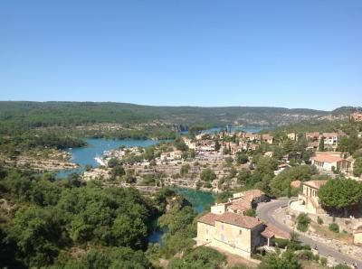 Vue depuis la location Location Studio 96206 Esparron-de-Verdon