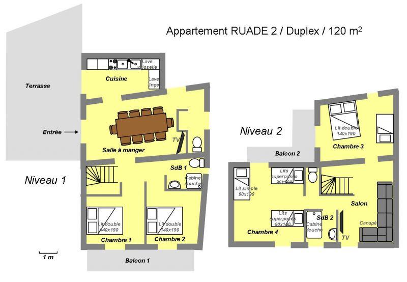 Plan de la location Location Appartement 100352 Valloire