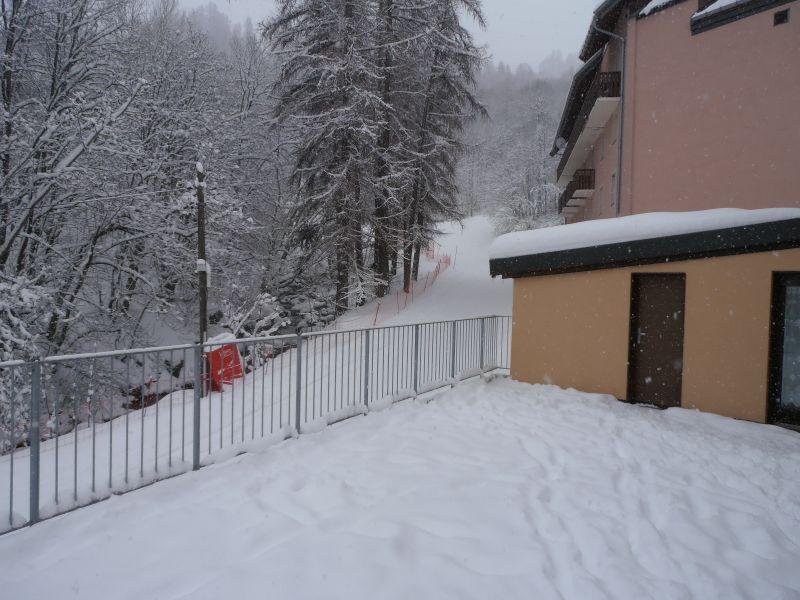 Vue de la terrasse Location Appartement 100352 Valloire