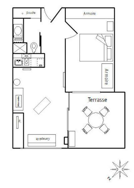 Plan de la location Location Appartement 102806 Rosas