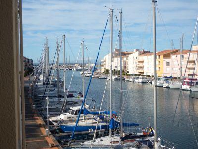 Vue de la terrasse Location Appartement 103539 Cap d'Agde