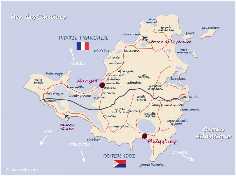 Carte Location Appartement 108399 Marigot