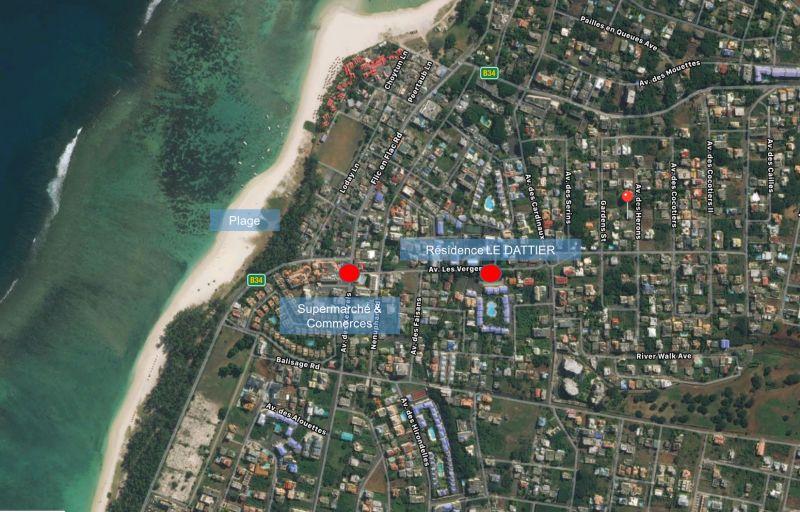 Carte Location Appartement 111737 Flic-en-Flac
