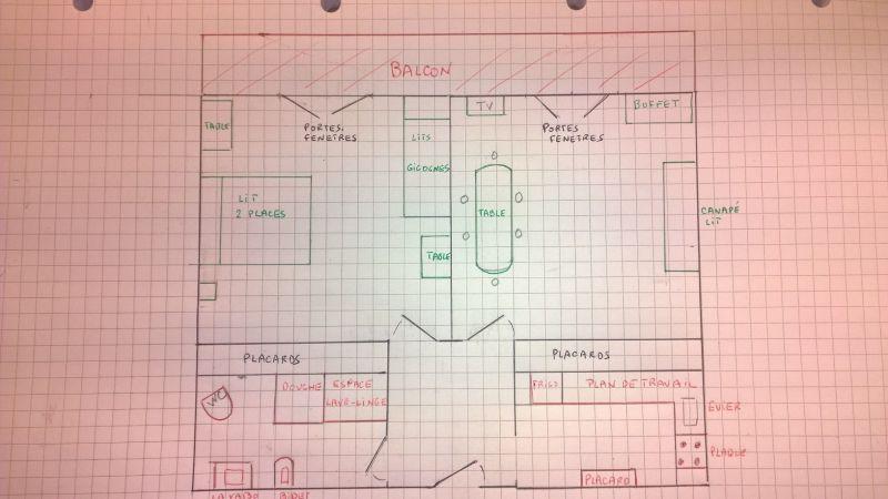 Plan de la location Location Appartement 112931 Hendaye