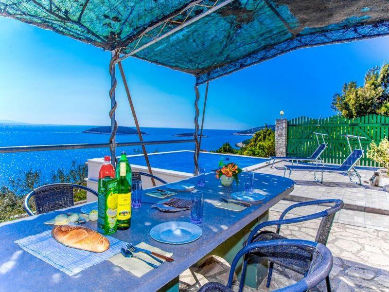 Vue de la terrasse Location Maison 114372 Trogir