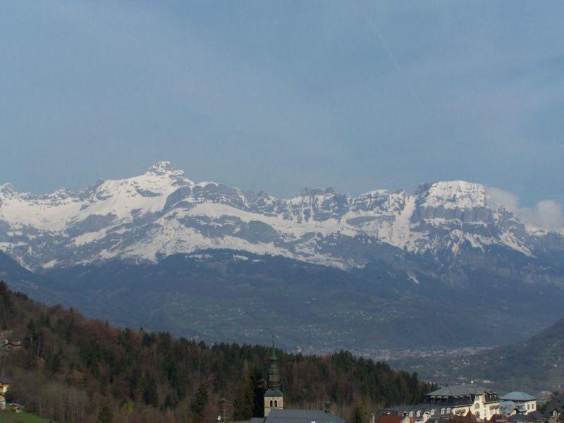 Vue du balcon Location Appartement 116920 Saint Gervais Mont-Blanc